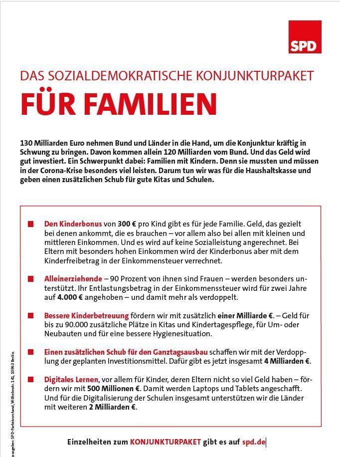 Flugblatt 20200612 Konjunkturpaket Familie
