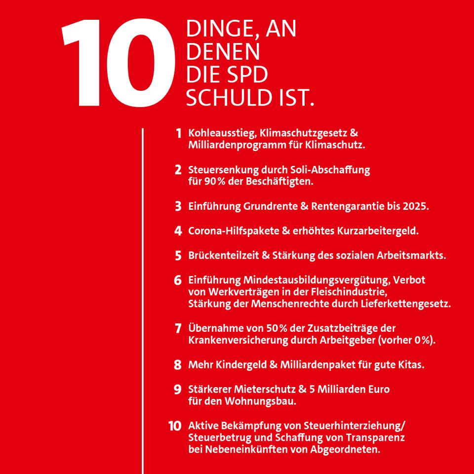 20210707 10 Dinge, an denen die SPD schuld ist