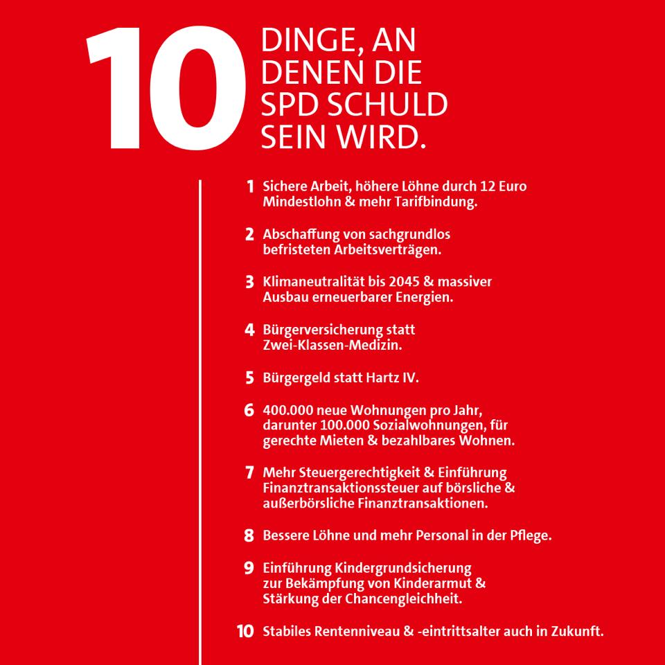 20210707 10 Dinge, an denen die SPD schuld sein wird